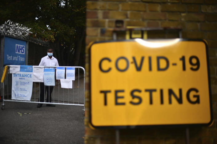 The government has struggled to meet the demand for coronavirus tests across the country. (AP)