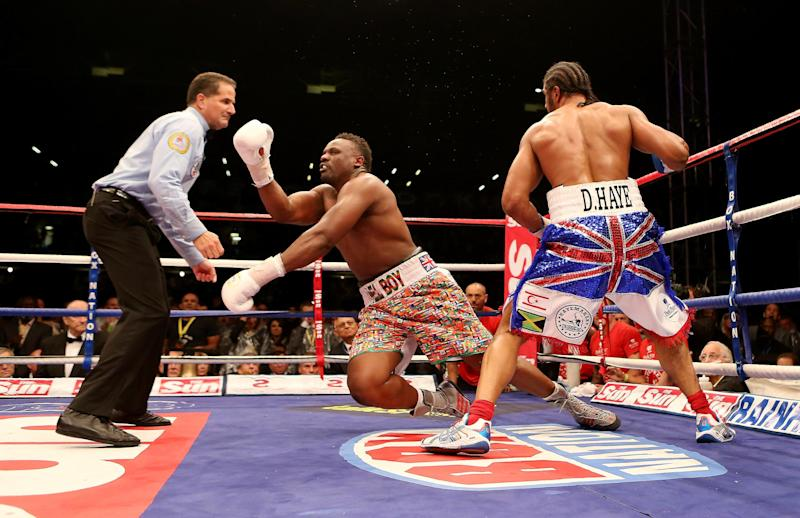 Haye beat Chisora when the two met in east London in July 2012: Getty Images