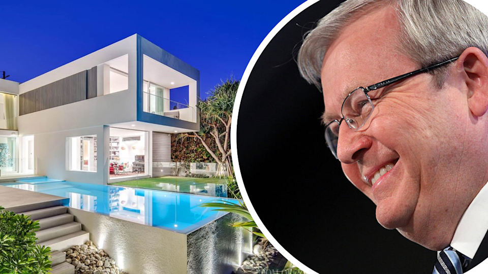 Kevin Rudd has been revealed as the buyer of Pat Rafter's former $17 million Noosa pad. Source: Getty/Realestate.com