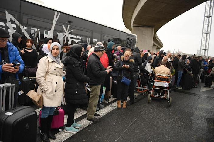 Orly is the second largest airport in Paris, and thousands of travellers were evacuated following the shooting on March 18, 2017 (AFP Photo/CHRISTOPHE SIMON)