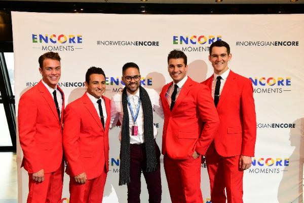 """Today, in New York City, Norwegian Cruise Line's Encore Moments Winners enjoyed a preview of the cruise line's Broadway-caliber entertainment, including a performance by the Tony Award®-winning """"Jersey Boys."""""""