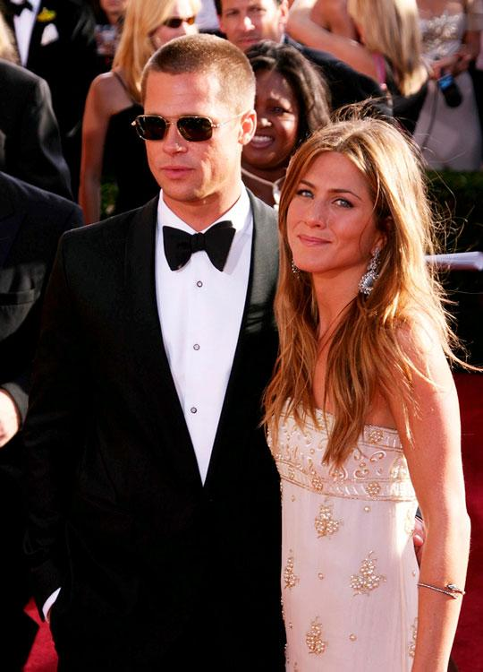 Brad Pitt y Jennifer Aniston Emmy 2004
