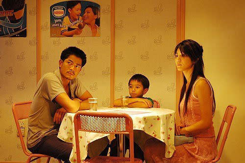 """Ian (middle) with Aaron Kwok and Kelly Lin in """"After This Our Exile""""."""