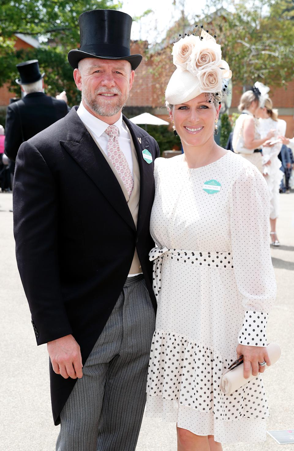 ASCOT, UNITED KINGDOM - JUNE 15: (EMBARGOED FOR PUBLICATION IN UK NEWSPAPERS UNTIL 24 HOURS AFTER CREATE DATE AND TIME) Mike Tindall and Zara Tindall attend day 1 of Royal Ascot at Ascot Racecourse on June 15, 2021 in Ascot, England. (Photo by Max Mumby/Indigo/Getty Images)