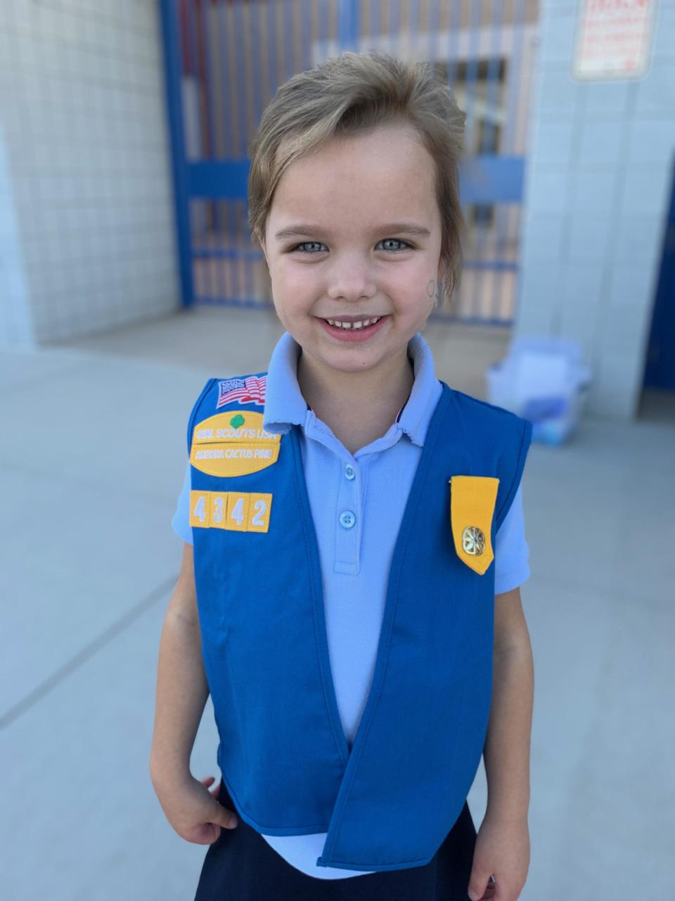 Girl Scout Allie Shroyer found a new way to sell cookies during the coronavirus pandemic — via the Ring doorbell. / Credit: Handout / Kristen Shroyer