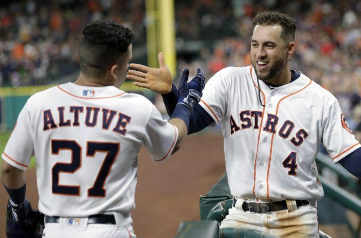 Jose Altuve can catch Aaron Judge for AL MVP, perhaps. (AP)