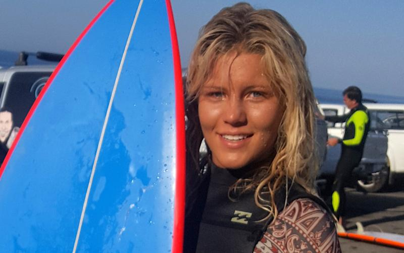 Zoe Steynwas 75 metres off shore waiting to catch a wave when she suddenly saw the man-eater rising from below