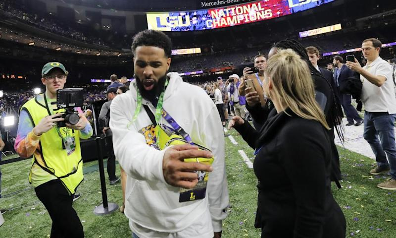 Odell Beckham Jr enjoyed himself during LSU's victory over Clemson, until he decided to hand out a slap