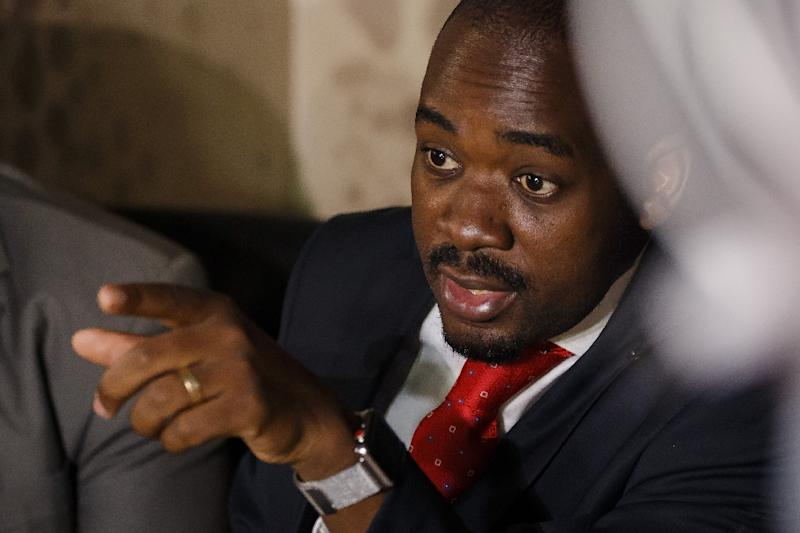 Zimbabwe opposition leader Nelson Chamisa is expected to be elected as the party's new president (AFP Photo/Jekesai NJIKIZANA)