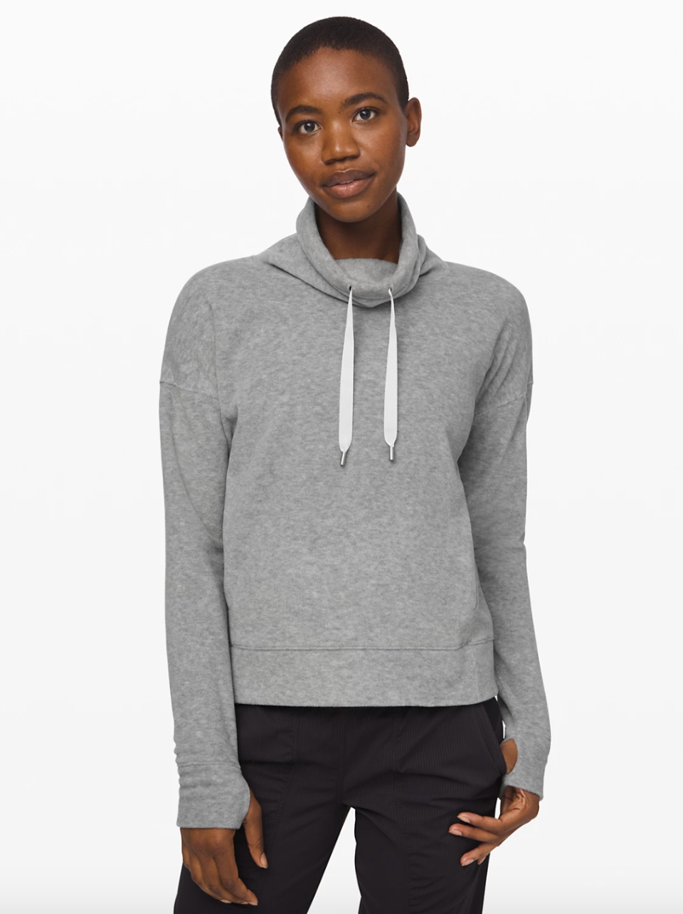 Go Forward Pullover in heathered core light grey