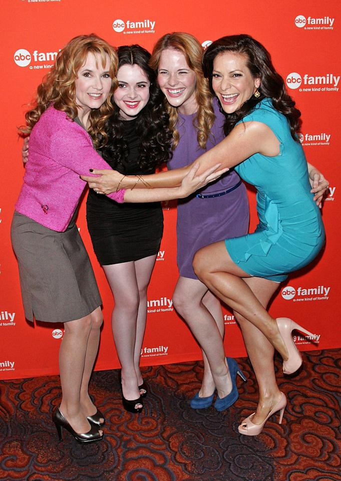 """Lea Thompson, Vanessa Marano, Katie Leclerc, and Constance Marie (""""<a href=""""http://tv.yahoo.com/switched-at-birth/show/47111/"""">Switched at Birth</a>"""") attend ABC Family's 2012 Upfront Presentation at the Mandarin Oriental Hotel on March 19, 2012 in New York City."""