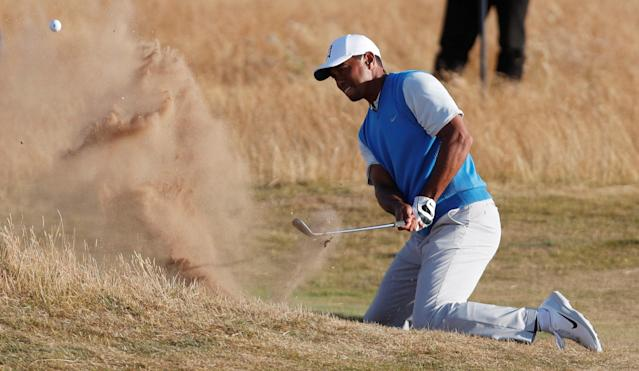 Tiger Woods played well at the British Open, but not well enough to challenge. (Getty)