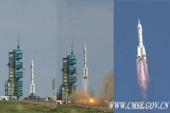 Liftoff of Shenzhou 10 crew en route to docking with target module — a prelude of larger things to come.