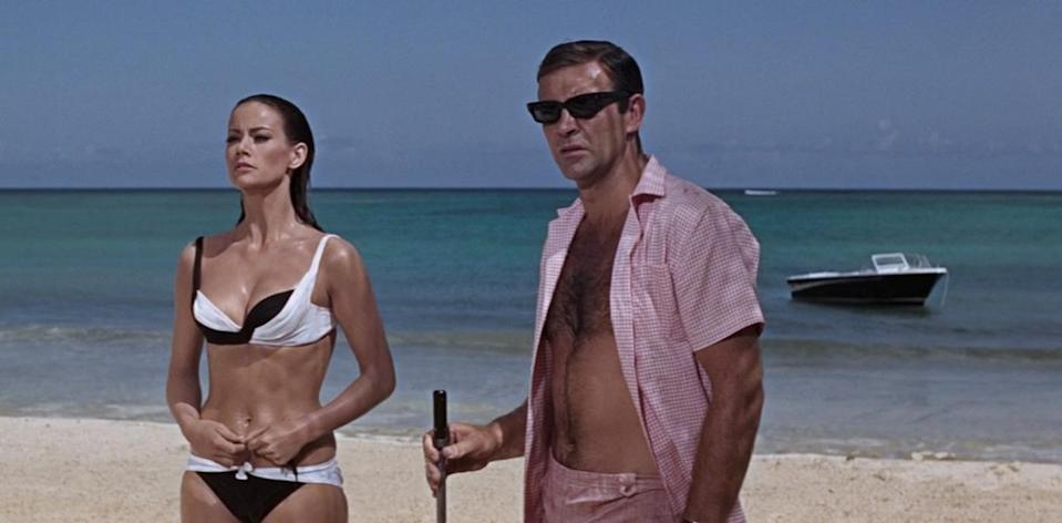 Claudine Auger and Sean Connery in 1965's 'Thunderball' (credit: MGM)