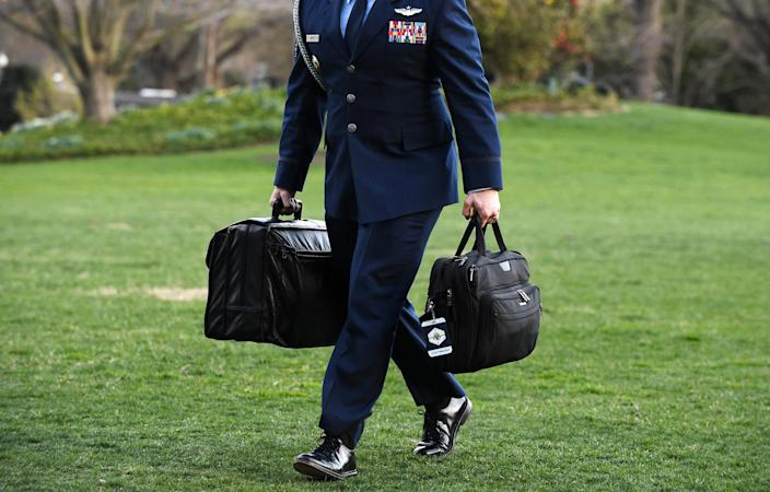 Image: The nuclear football (Olivier Douliery / AFP - Getty Images file)