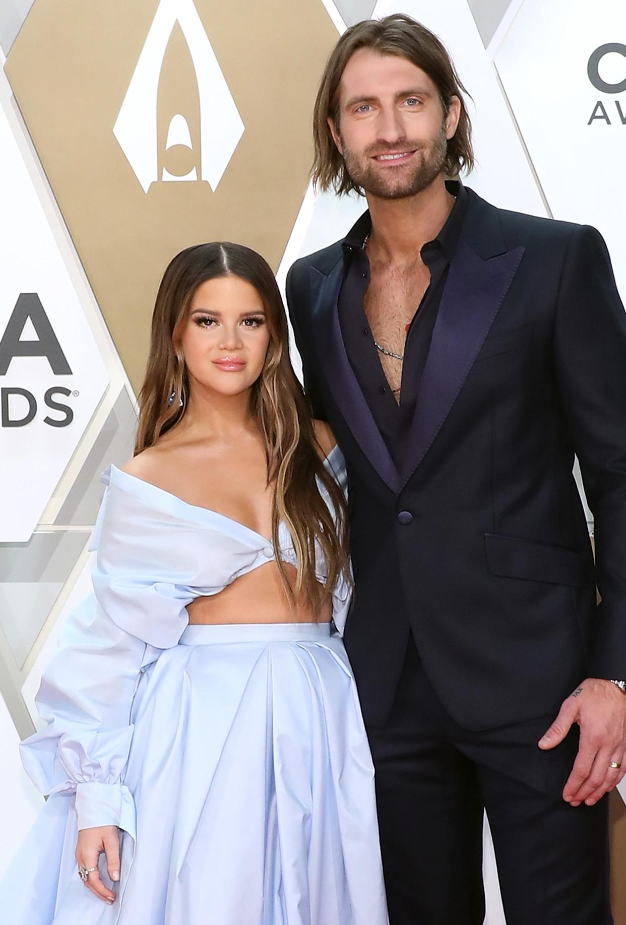 Maren Morris and husband Ryan Hurd at the 53rd Annual CMA Awards
