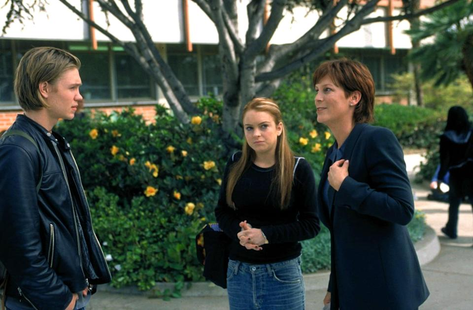 """<p>At its heart, <strong>Freaky Friday</strong> is a comedy about a mom and daughter who swap places and gain a better understanding of each other's lives in the process. But it also features a romantic subplot between <a class=""""link rapid-noclick-resp"""" href=""""https://www.popsugar.co.uk/Lindsay-Lohan"""" rel=""""nofollow noopener"""" target=""""_blank"""" data-ylk=""""slk:Lindsay Lohan"""">Lindsay Lohan</a> and Chad Michael Murray that is pure cuteness. </p> <p><a href=""""https://www.disneyplus.com/movies/freaky-friday-2003/3fHmXbluw63h"""" class=""""link rapid-noclick-resp"""" rel=""""nofollow noopener"""" target=""""_blank"""" data-ylk=""""slk:Watch Freaky Friday on Disney+ now."""">Watch <strong>Freaky Friday</strong> on Disney+ now.</a></p>"""