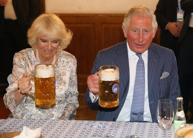 Charles and Camilla enjoying the German culture in Munich during a previous visit to the country. Steve Parsons/PA Wire