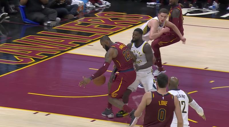 Lance Stephenson reintroduces himself to Le Bron James with authority. More