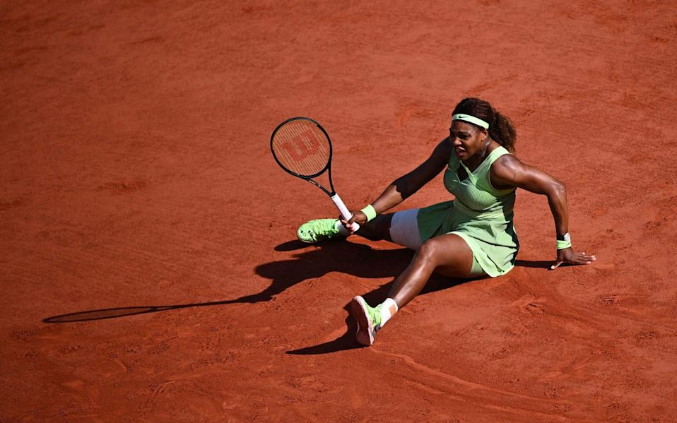 Williams had looked solid through her first three matches but not on Sunday - AFP