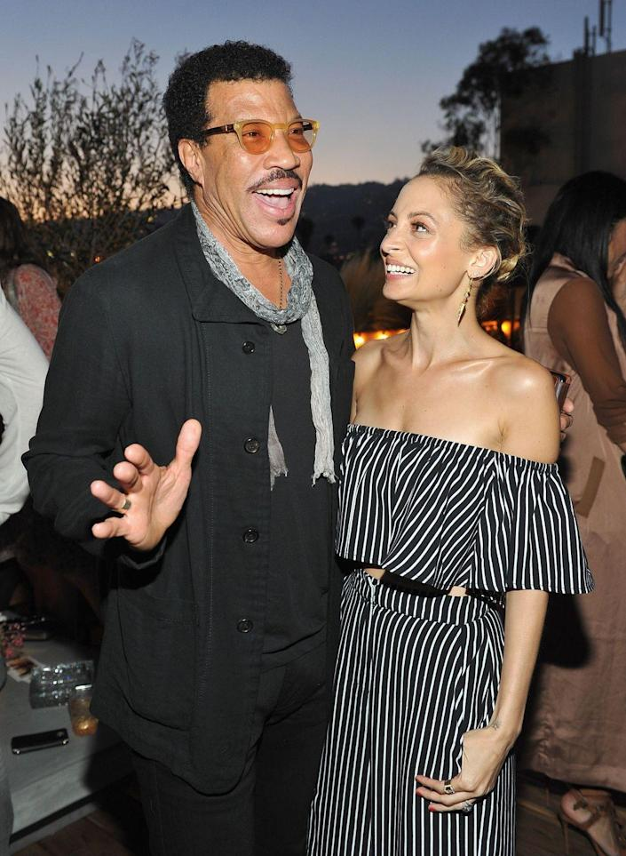 "<p><strong>Famous parent(s)</strong>: singer Lionel Richie<br><strong>What it was like</strong>: ""When your father is Lionel Richie, you grow up with some pretty famous people around the house, like Prince and Michael Jackson,"" she's <a href=""http://people.com/celebrity/nicole-richie-on-growing-up-with-uncle-michael-jackson-and-uncle-prince/"" rel=""nofollow noopener"" target=""_blank"" data-ylk=""slk:said"" class=""link rapid-noclick-resp"">said</a>. ""From what I remember it was pretty normal for me. There were a lot of people around is what I do remember. There were people in and out of the house pretty you know much all the time, but now that I'm older and I'm in this business I get it.""</p>"