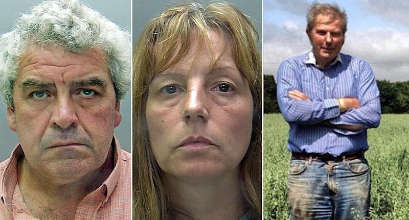 Angela Taylor and her lover Paul Cannon have been jailed for murdering her wealthy farmer husband William Taylor (PA Images)