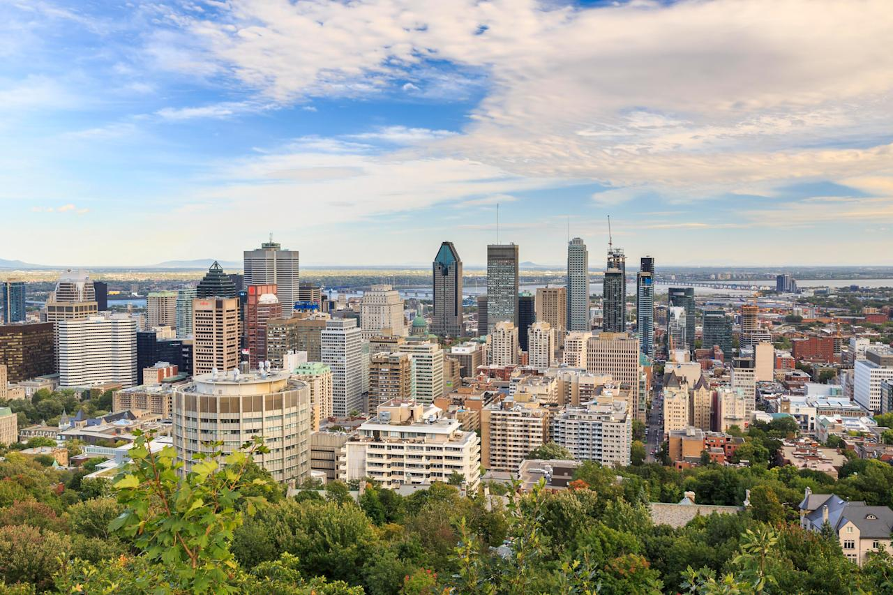 """<strong>This place looks beautiful. What can you tell us about it?</strong><br> Mount Royal Park was designed by Frederick Law Olmsted (of <a href=""""https://www.cntraveler.com/activities/new-york/central-park?mbid=synd_yahoo_rss"""">Central Park</a> fame) and inaugurated in 1876. Since then, the 692 acres north of downtown, has been Montreal's unofficial playground. There are stunning views of the city from the various lookouts atop Mount Royal. Attractions include the Mount Royal Cross (first erected in 1643), Mount Royal Chalet, and Beaver Lake. On Sunday afternoons in summer, the Sir George Etienne Cartier Monument is surrounded by drum circles featuring hundreds of drummers. Montrealers make use of the space year-round, from jogging and enjoying family picnics in summertime, to skiing and tobogganing in winter."""