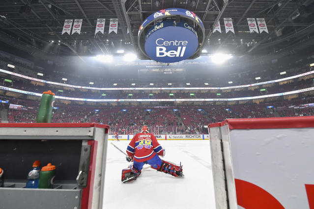 The Montreal Canadiens, who were all but eliminated prior to the shutdown, would reportedly take on the Pittsburgh Penguins in a best-of-five play-in under the proposed format. (Photo by Francois Lacasse/NHLI via Getty Images)