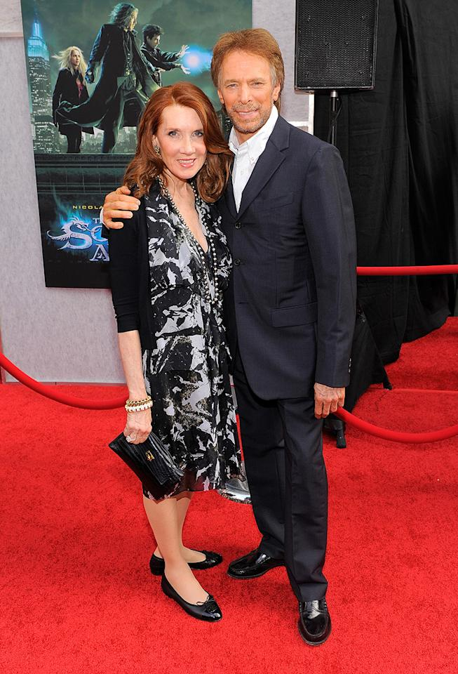 """<a href=""""http://movies.yahoo.com/movie/contributor/1800020335"""">Jerry Bruckheimer</a> and wife at the New York City premiere of <a href=""""http://movies.yahoo.com/movie/1810073953/info"""">The Sorcerer's Apprentice</a> - 07/06/2010"""
