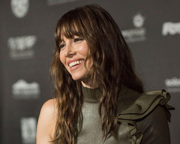 Jessica Biel Looks Incredible in Olive Green Leather