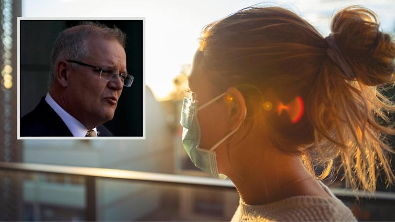 Scott Morrison has announced struggling Australians will have increased access to services. Images: Getty