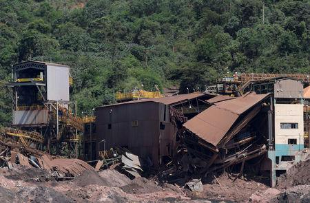 A view of a collapsed tailings dam owned by Brazilian mining company Vale SA, in Brumadinho, Brazil February 10, 2019. Picture taken February 10, 2019. REUTERS/Washington Alves