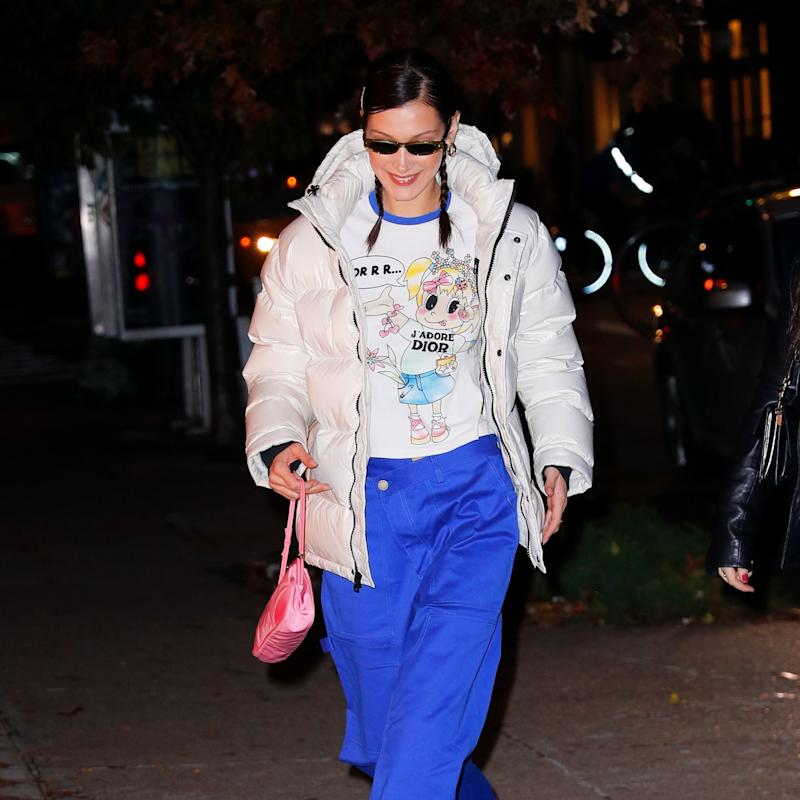 Bella Hadid Steps Out in One of Winter's Most Affordable Puffers