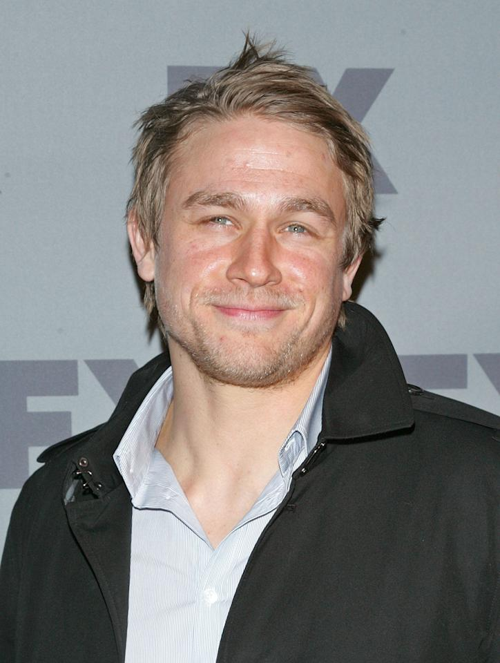 """Charlie Hunnam (""""<a href=""""http://tv.yahoo.com/sons-of-anarchy/show/40546"""">Sons of Anarchy</a>"""") attends FX's 2012 Upfronts at Lucky Strike on March 29, 2012 in New York City."""