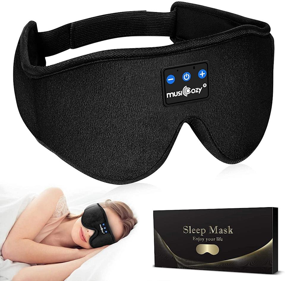 <p>The <span>Musicozy Sleep Headphones</span> ($20, originally $25) is not only a soft eye mask, but also, a bluetooth enabled wireless headphones. It's perfect for blocking out the various distractions of a flight ride. It comes in a variety of colors as well!</p>