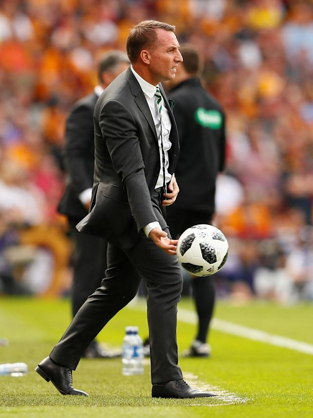 Soccer Football - Scottish Cup Final - Celtic vs Motherwell - Hampden Park, Glasgow, Britain - May 19, 2018 Celtic manager Brendan Rodgers Action Images via Reuters/Jason Cairnduff