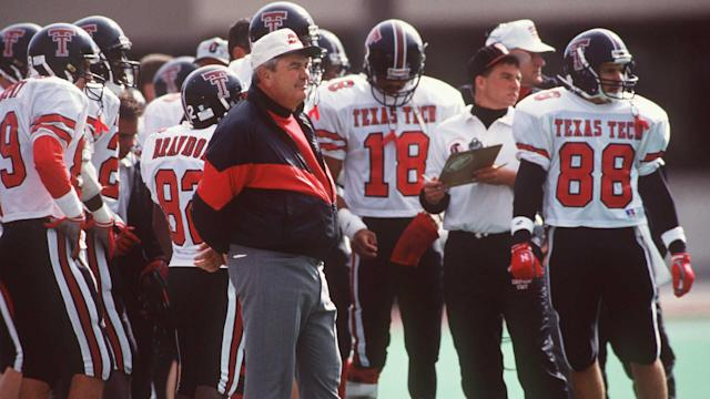 His homespun humor belied coaching acumen that led the Red Raiders to seven bowl games in the 1980s and '90s.