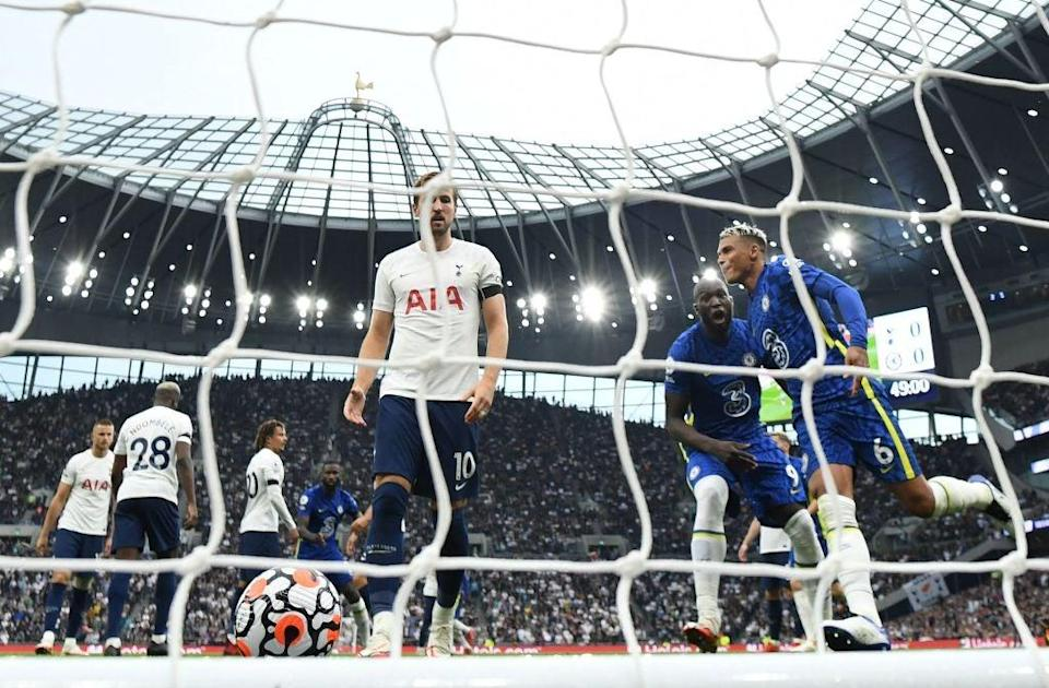 Kane and his Spurs teammates were outclassed by Chelsea on Sunday (AFP via Getty Images)