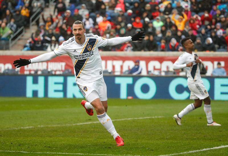 Zlatan Ibrahimovic scores on first LA Galaxy start