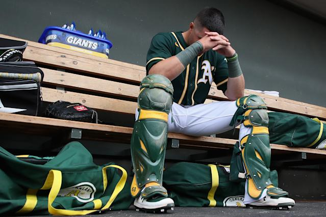 The Oakland A's will stop paying their minor leagues on June 1. (Photo by Christian Petersen/Getty Images)