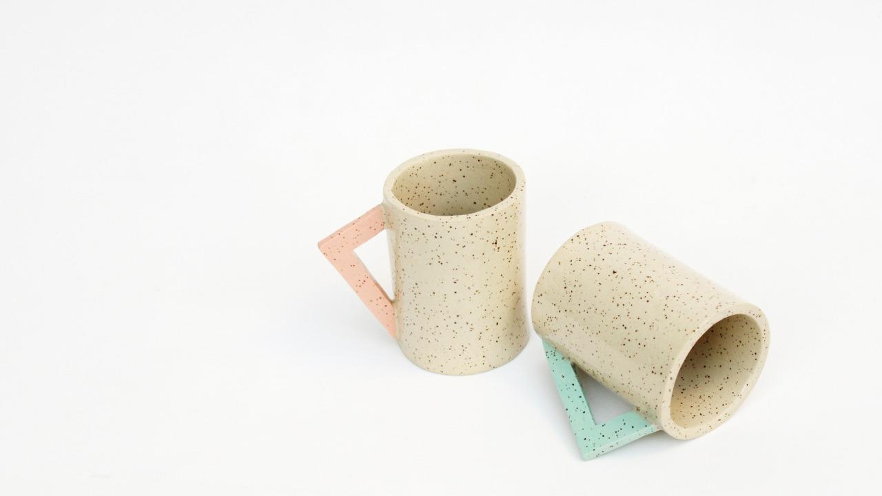 """<p><a href=""""http://www.lindseyhampton.com/"""">Hampton's ceramics</a> run the gamut, from mugs to lamp bases, and play with off-white glazed speckling in contrast with pastel gradients, which result in a type of soft-core Memphis-meets-California feel. The Vancouver-based artist's work delicately negotiates the space between organic and artificial, rustic and refined. </p>"""