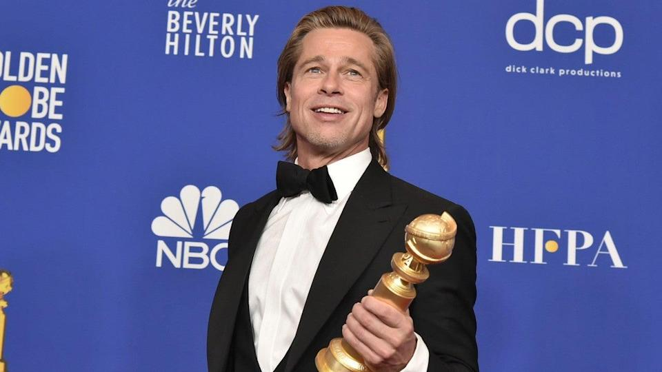 The actor won his third Globes honor for his role as stuntman Cliff Booth in Quentin Tarantino's latest epic.
