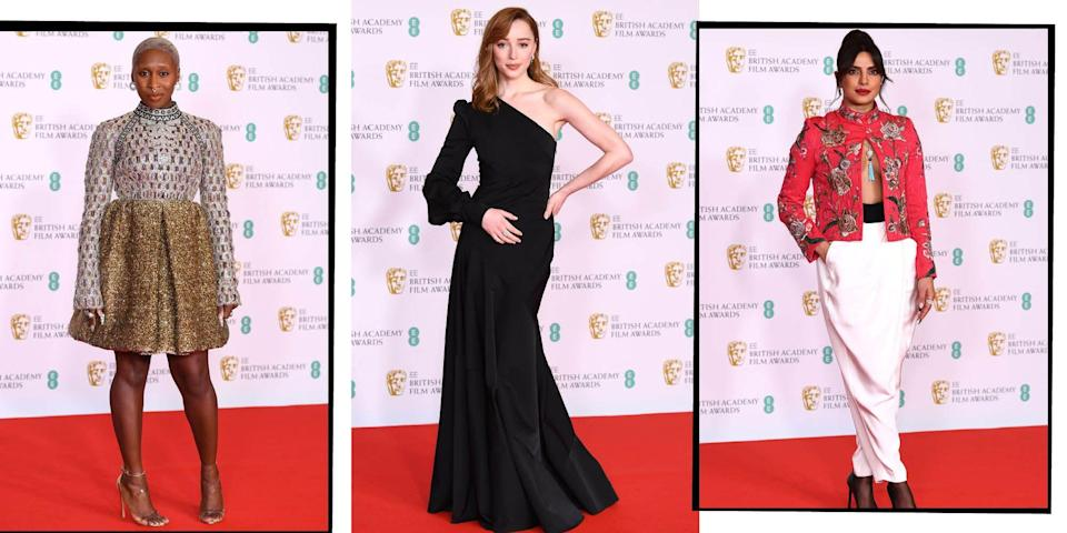 """<p>It was London's night to host this award's season as the stars assembled on the red carpet for the 2021 BAFTA.</p><p>Unlike many awards ceremony this <a href=""""https://www.elle.com/uk/awards-season-best-fashion-makeup-hair/"""" rel=""""nofollow noopener"""" target=""""_blank"""" data-ylk=""""slk:award's season"""" class=""""link rapid-noclick-resp"""">award's season</a>, the BAFTAs was able to host an IRL red carpet, alongside a virtual red carpet for those who couldn't travel or attend. </p><p>The evening saw film royalty - in the form of Priyanka Chopra Jonas, Renee Zellweger, Vanessa Kirby and more - put on their designer glad rags for the Brit' most glamorous event. </p><p>From fantastical embellished gowns, to refreshingly modern twists on red carpet dressing, these are the most amazing designer outfits from the best dressed celebs at the 2021 BAFTAs.</p>"""