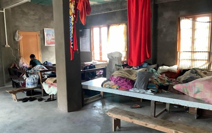 The camp hosts dozens of people who have been forced to flee Myanmar - Isaac Zoramsanga