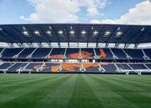 """Known as """"The Crown Jewel of Cincinnati,"""" this soccer-specific architectural wonder boasts nearly 20,000 linear feet of custom engineered railing from Trex Commercial Products, a leading national provider of architectural railing systems."""