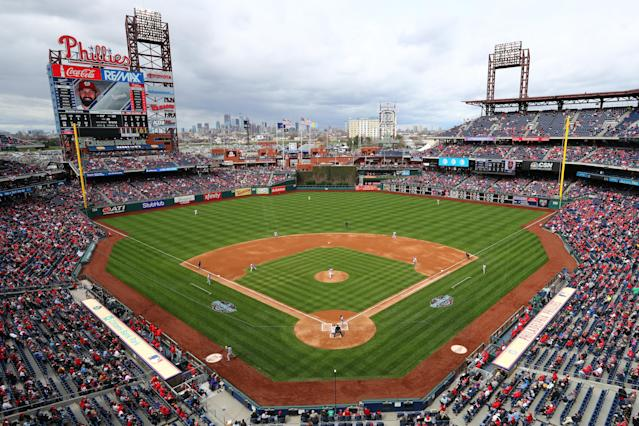 A photo of Citizens Bank Park and not Coors Field ran in the Rockies preview in the Denver Post. (Getty Images)