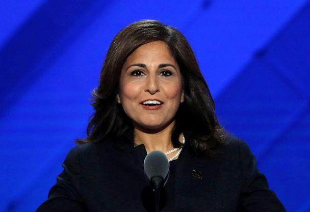 PHOTO: Center for American Progress Action Fund President Neera Tanden speaks at the Democratic National Convention in Philadelphia, July 27, 2016. (Mike Segar/Reuters, File)