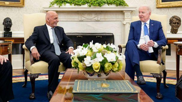 PHOTO: President Joe Biden meets with Afghan President Ashraf Ghani in the Oval Office of the White House in Washington, June 25, 2021. (Susan Walsh/AP)