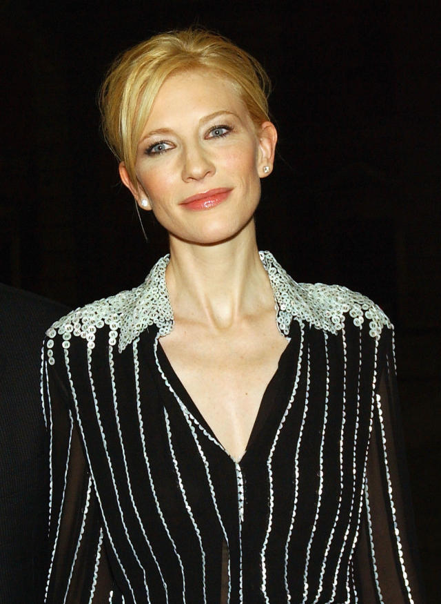 <p>Cate Blanchett attends the after-party of the world premiere of <em>Veronica Guerin</em> in Dublin Castle on July 8, 2003, in Ireland. (Photo: ShowBizIreland.com/Getty Images) </p>