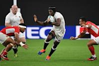 England's lock Maro Itoje launched many attacks from deep (AFP Photo/WILLIAM WEST)